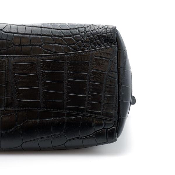 クロコダイル クロコダイルトートバッグ(R25型) ブラック