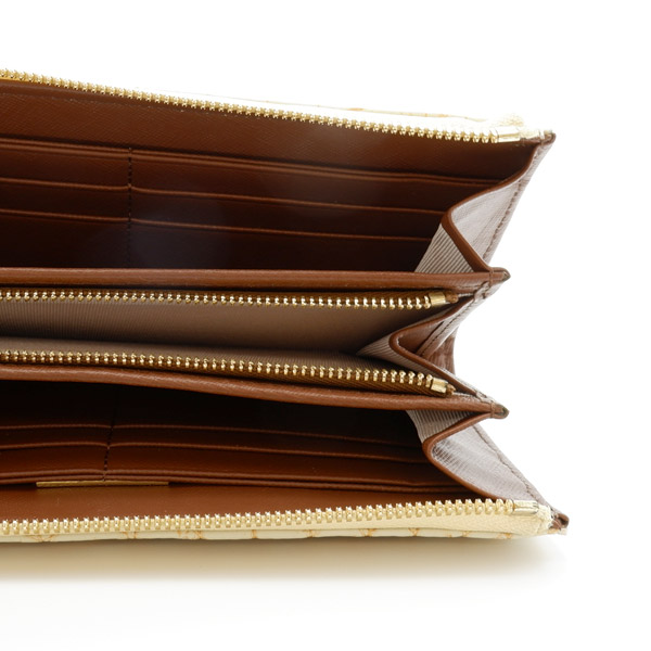 クロコダイルL字型長財布 メジゴールド