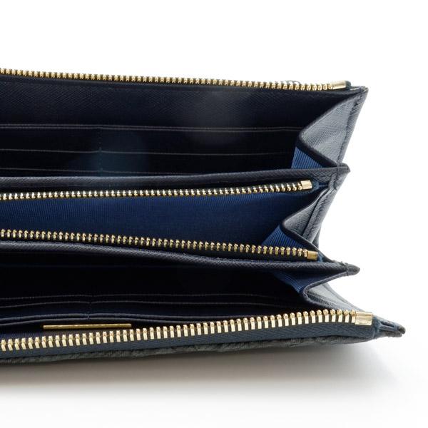 クロコダイルL字型長財布 ジーンズブラック