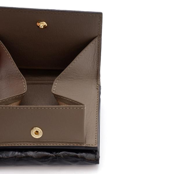 クロコダイル ミニ財布 ブラック