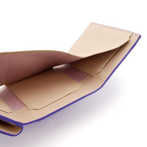 クロコダイル ミニ財布 紫紺