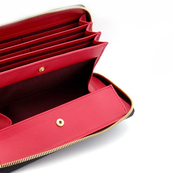 クロコダイルカードケース付きラウンド財布 ブラック