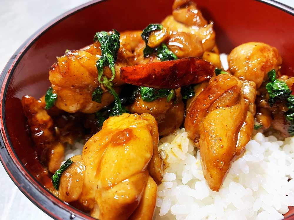 ご飯にピッタリ!台湾鶏丼 三杯鶏(真空冷凍パック200g)