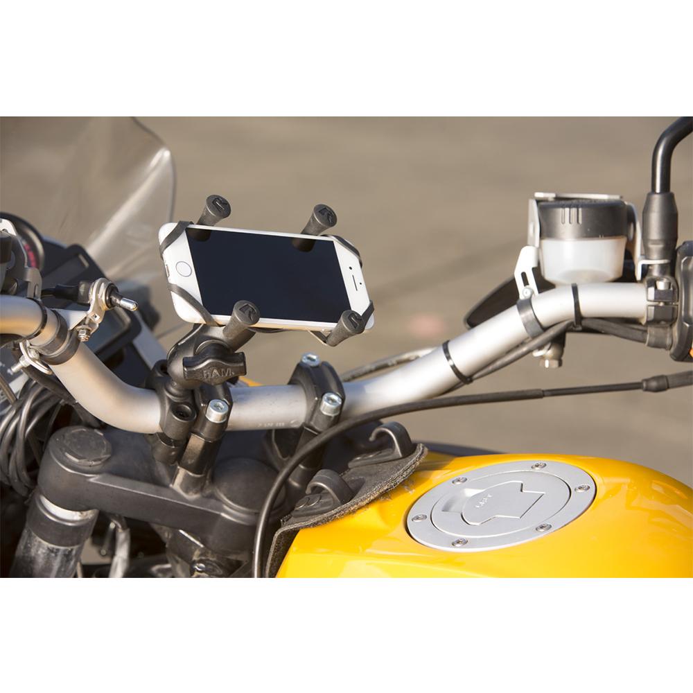 ラムマウント RAM MOUNTS X-グリップハンドルバーラムマウント/国内正規品 RAM-B408A-UN7 スマホ スマホホルダー バイク バイク用品 自転車  オフロード 車 カー用品 ボート 登山 キャンプ *送料無料 *小型宅配便