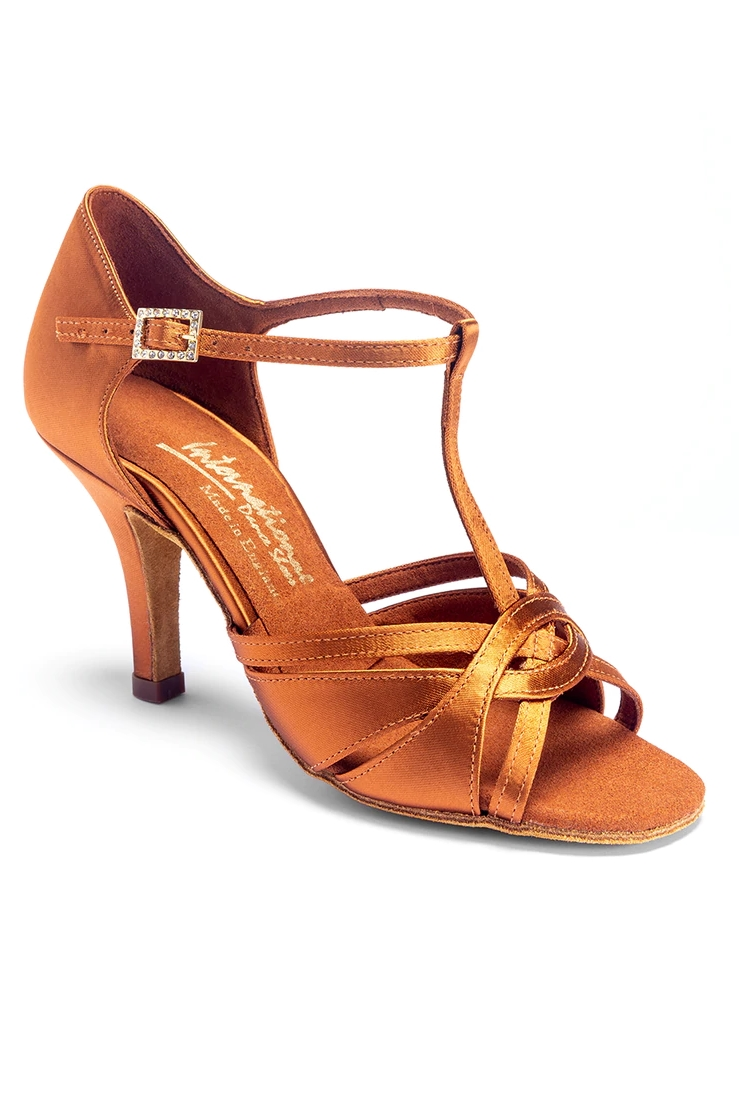 【先行予約】MIA T-BAR  ミアTバー タンサテン 7IDS heel (レディースラテンシューズ)