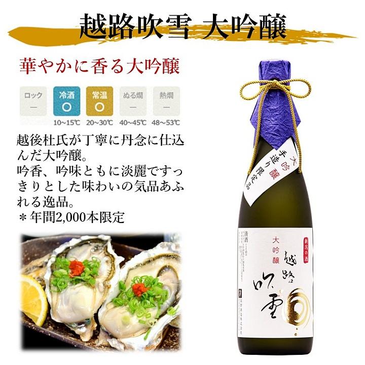 越路吹雪 大吟醸 1800ml 化粧箱入 日本酒 新潟 高野酒造