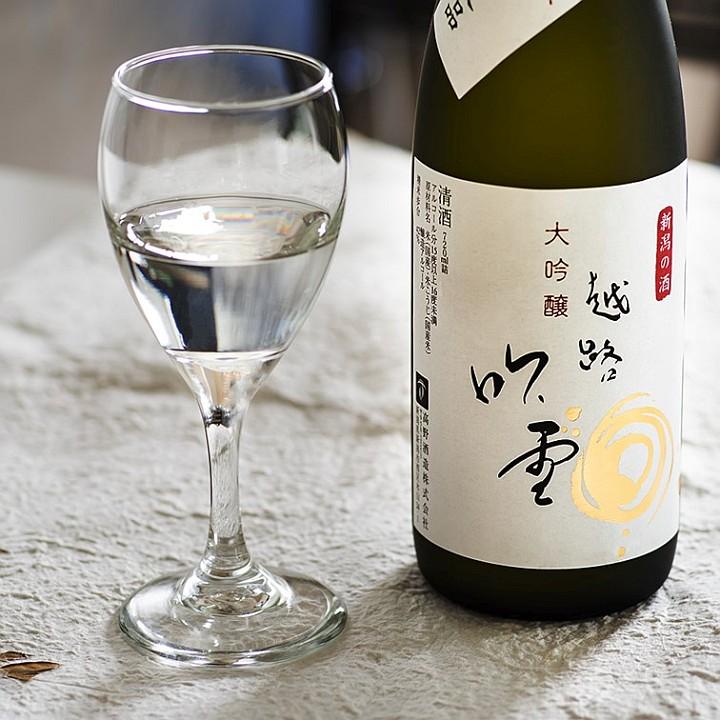 越路吹雪 大吟醸 1800ml 化粧箱入 日本酒 お酒 新潟 高野酒造