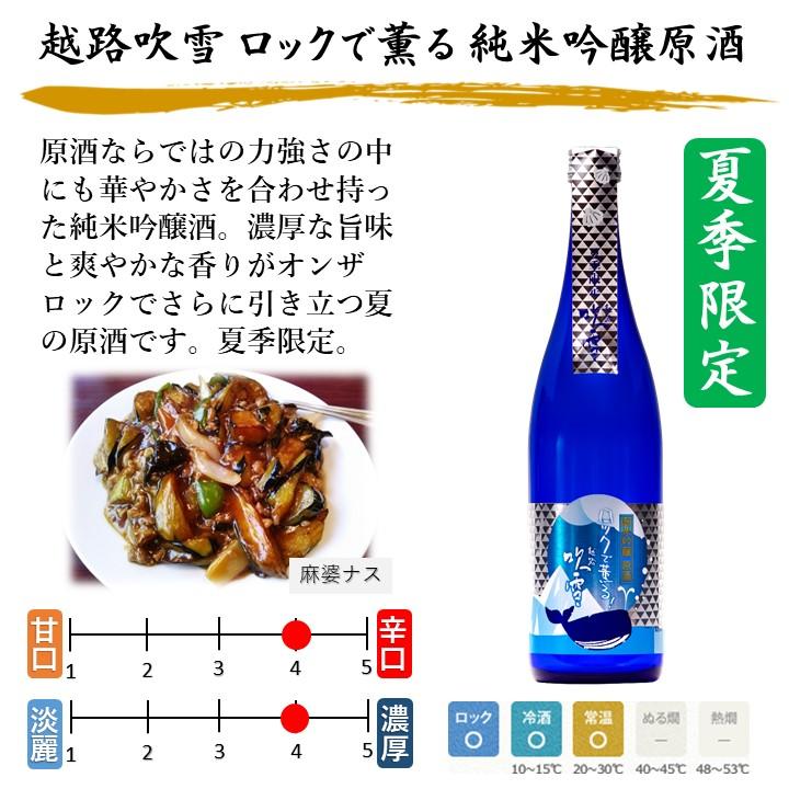 【夏季限定】 夏の冷酒 日本酒 飲み比べセット 720ml×3本 新潟 高野酒造