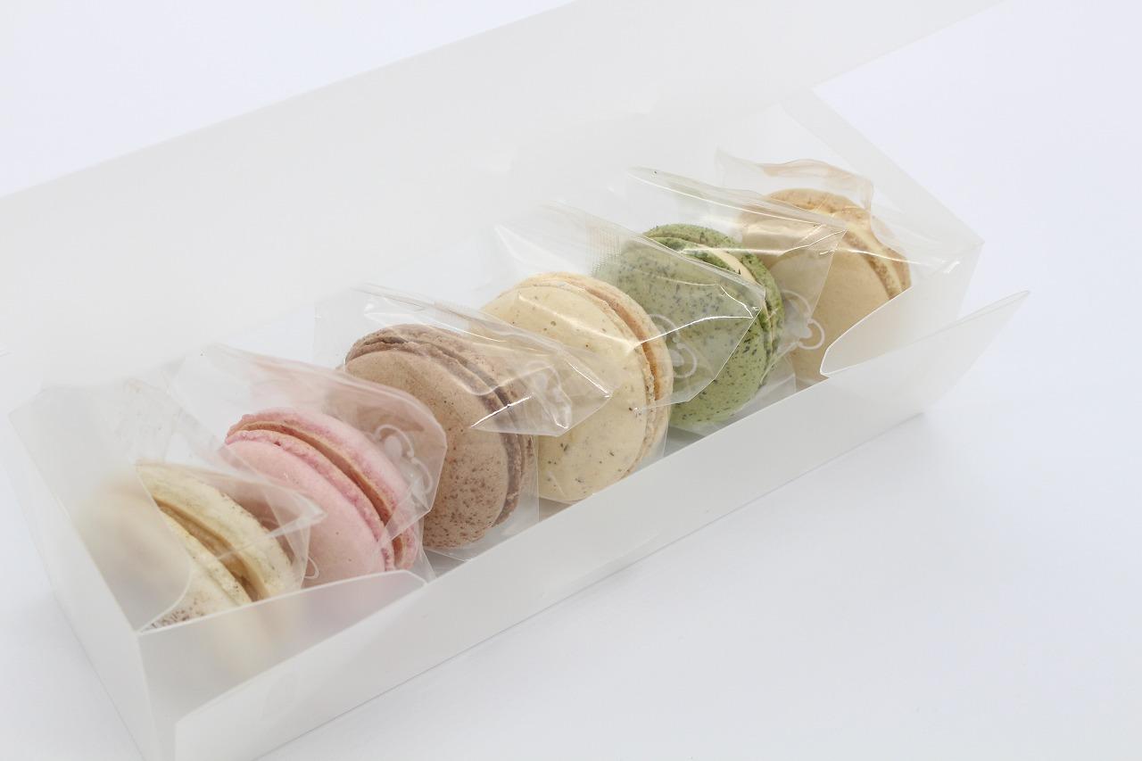 【送料無料】和菓子屋さんが作る至福のマカロン 浅井万十店の「和かろん」6個セット