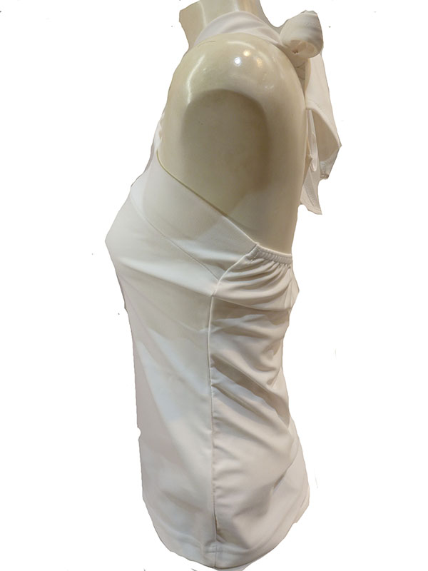 MN-1842   1518 リボン・ホルター ホワイト