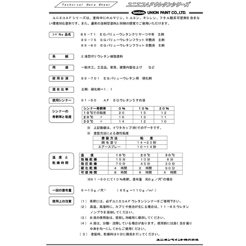 89-80 EGバリューウレタンクリヤー 艶消 8Lセット