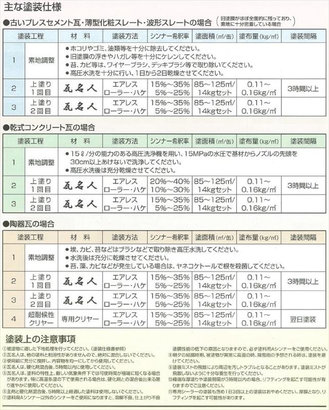 瓦名人 オリエンタル塗料 *東日本限定商品