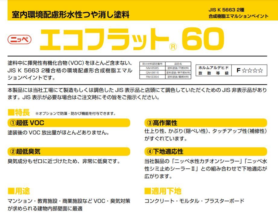 エコフラット60(内装用) 標準色