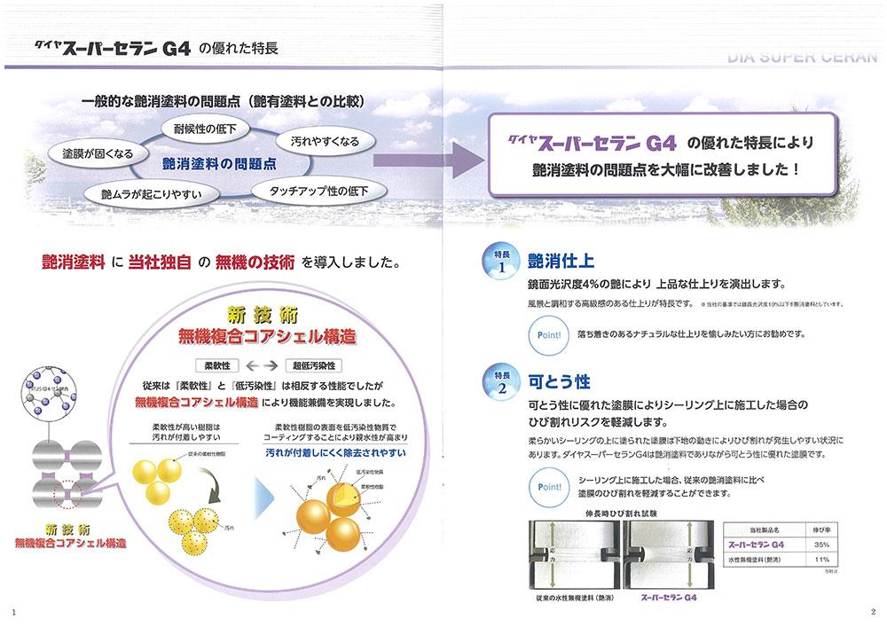 ダイヤスーパーセランG4   艶消  ホワイト