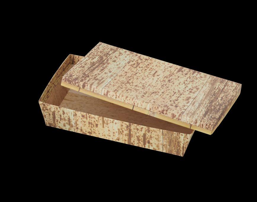 KAMI BOX 竹皮柄(長角L)