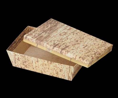 KAMI BOX 竹皮柄(長角S)