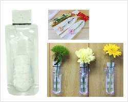 切り花 保水キャップ - 「ミニフラワーボトル」 (内容:エコゼリー20g)