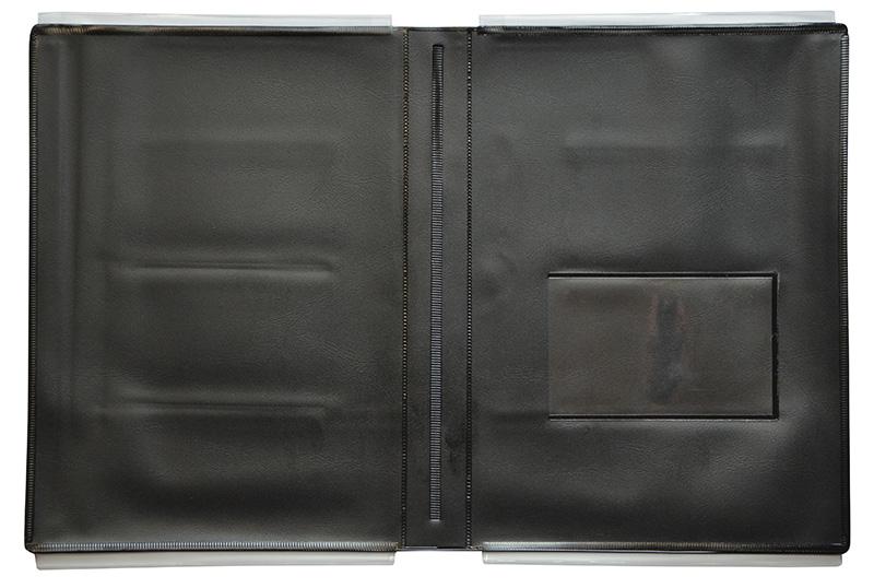 汎用車検証入れCサイズ 10枚セット W360×H230mm (ブラック) 10枚 /264-201-10