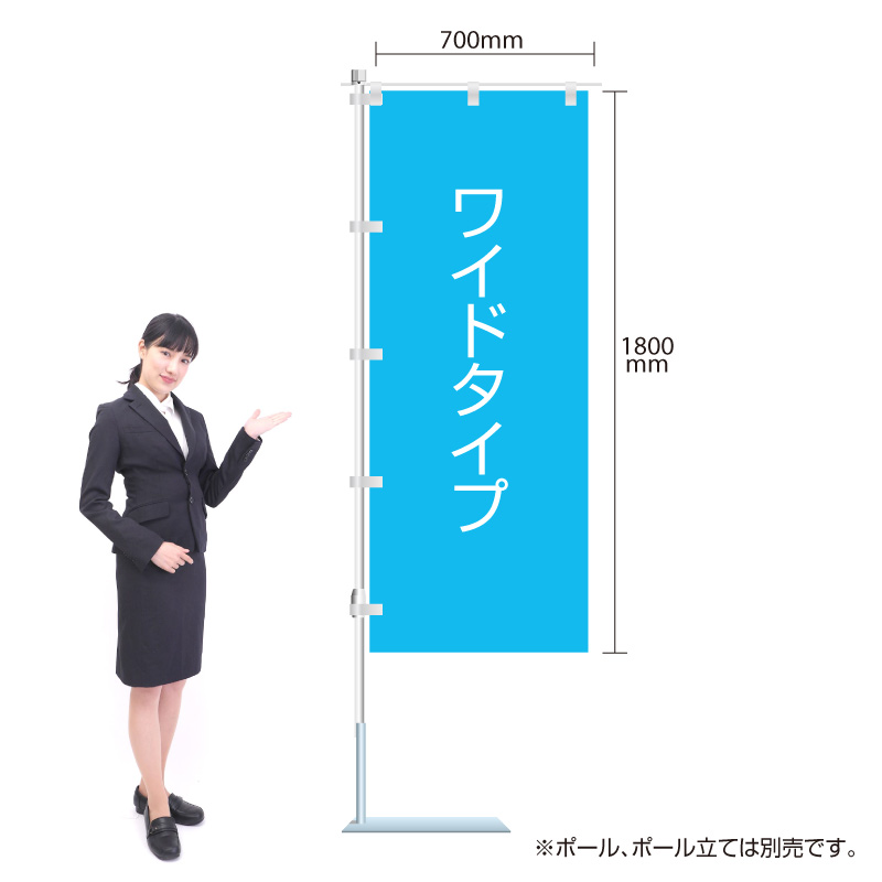 のぼり 福祉車輌 W700×H1800mm /K-033