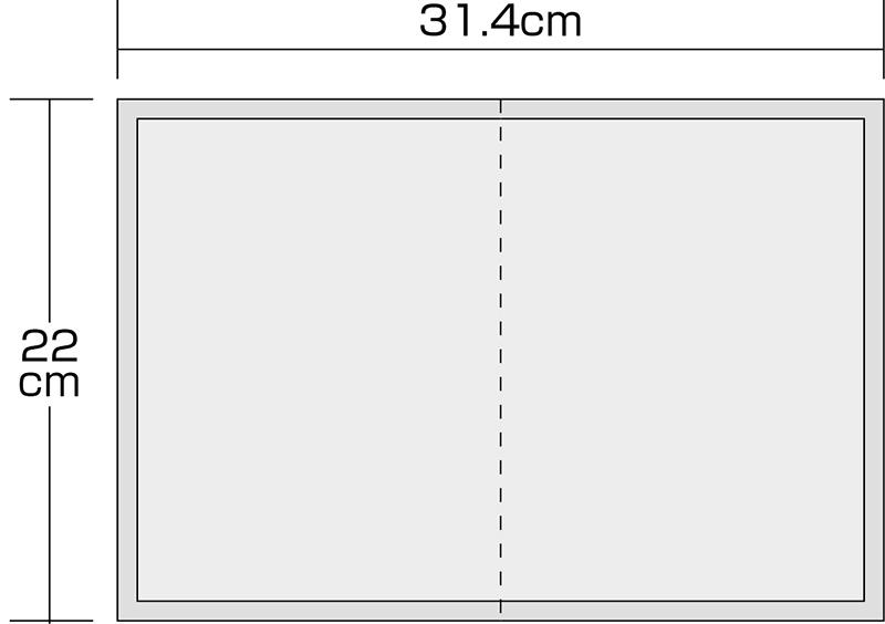汎用車検証入れSサイズ 50枚セット W314×H220mm (レッド) 50枚 /264-106