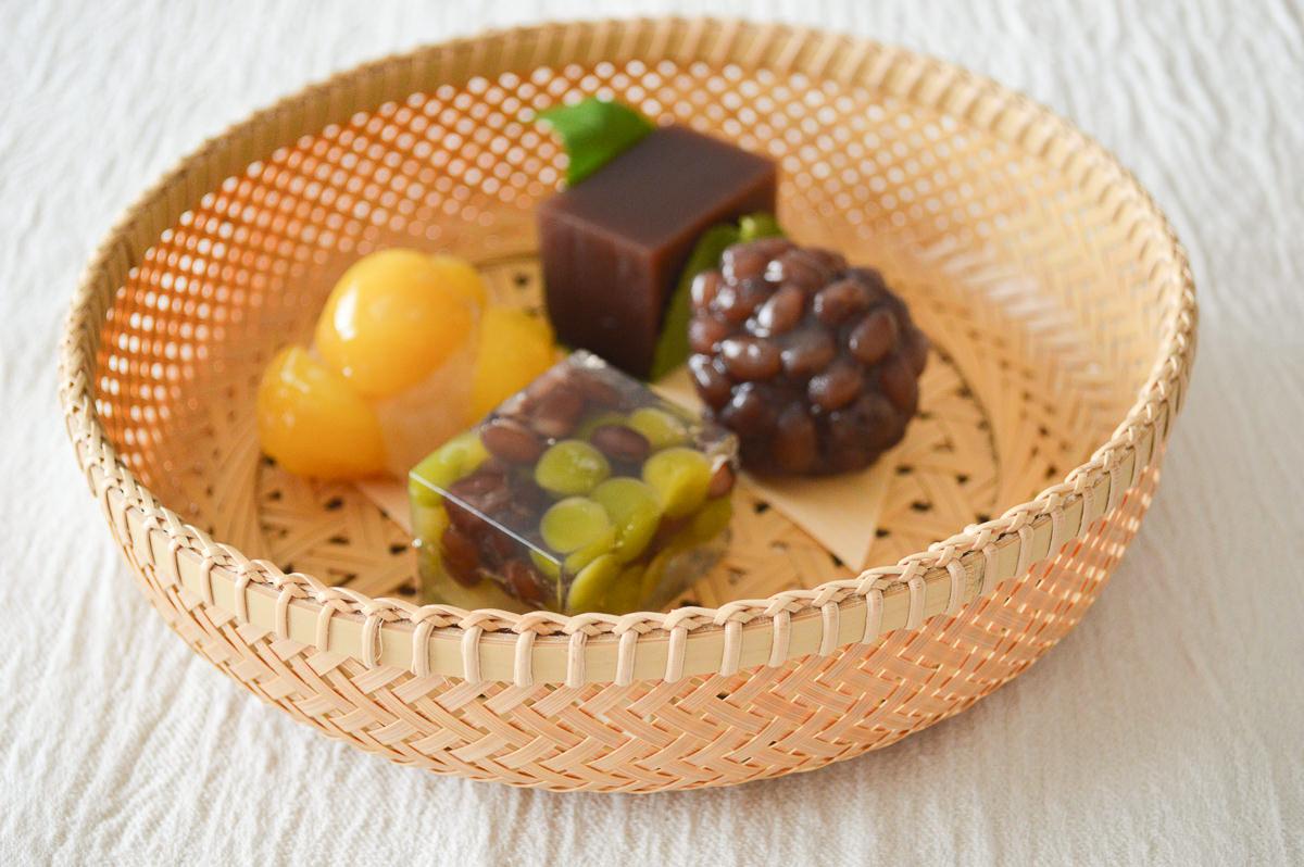 栃木県/真竹(白竹) 輪弧(りんこ)編み 盛籠