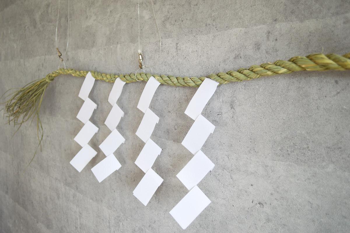 【第一次予約販売】東京都/稲わら しめかざり 細じめ(紙垂4枚付き) 二尺・三尺・四尺・六尺