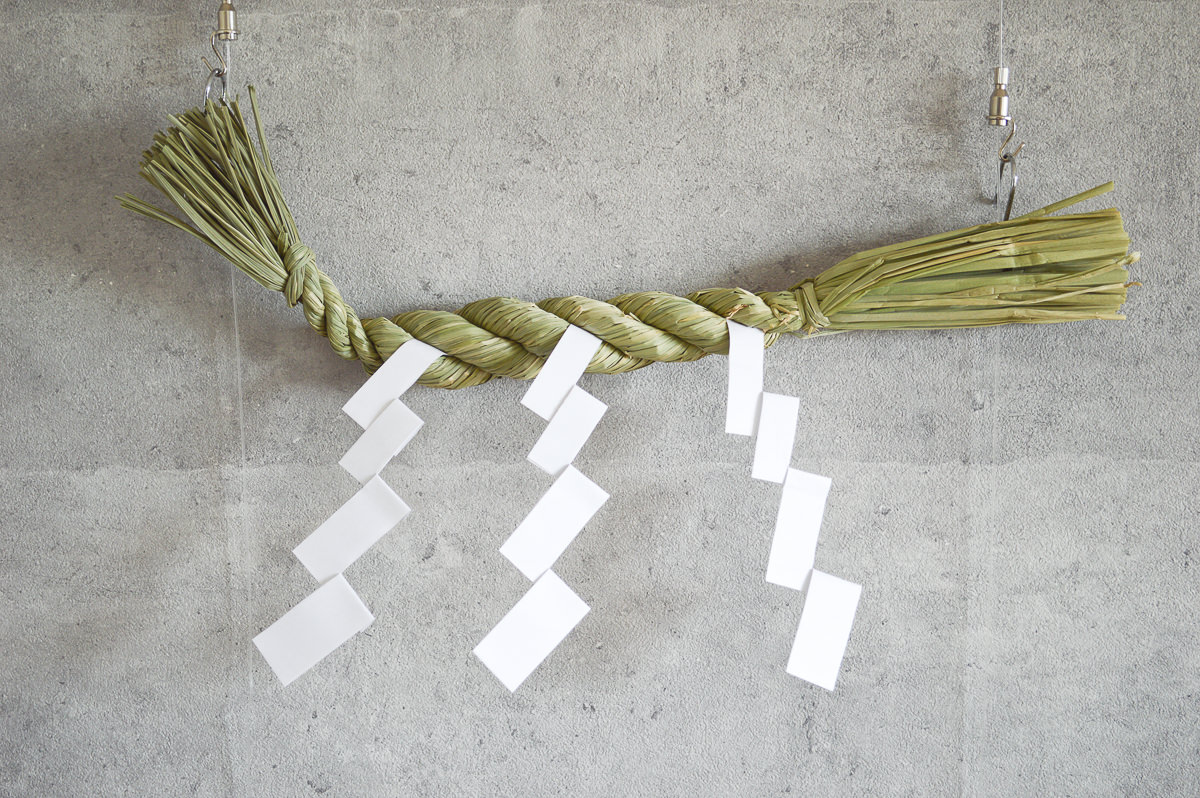 【第一次予約販売】東京都/稲わら しめかざり 荒神(紙垂小4枚付き)