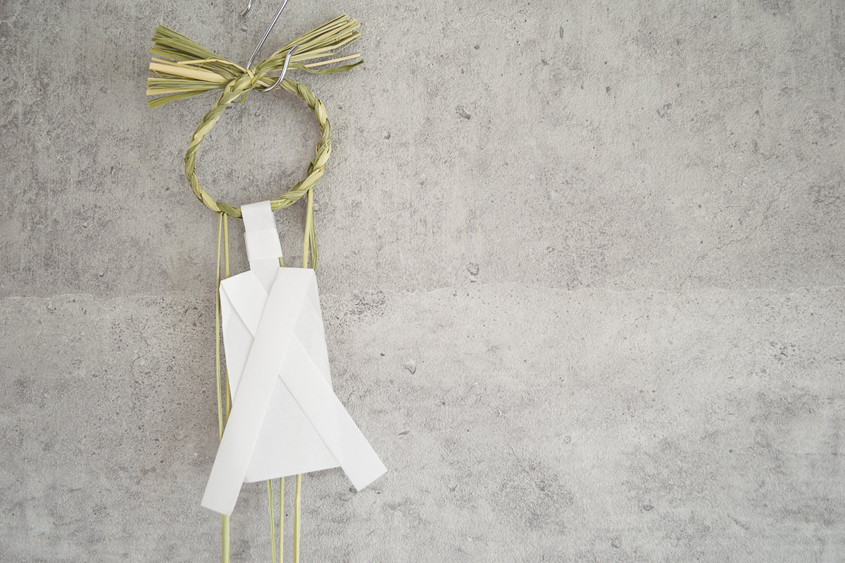 【第一次予約販売】東京都/稲わら しめかざり 輪かざり 2個セット・4個セット/紙垂付き・人形〆付き