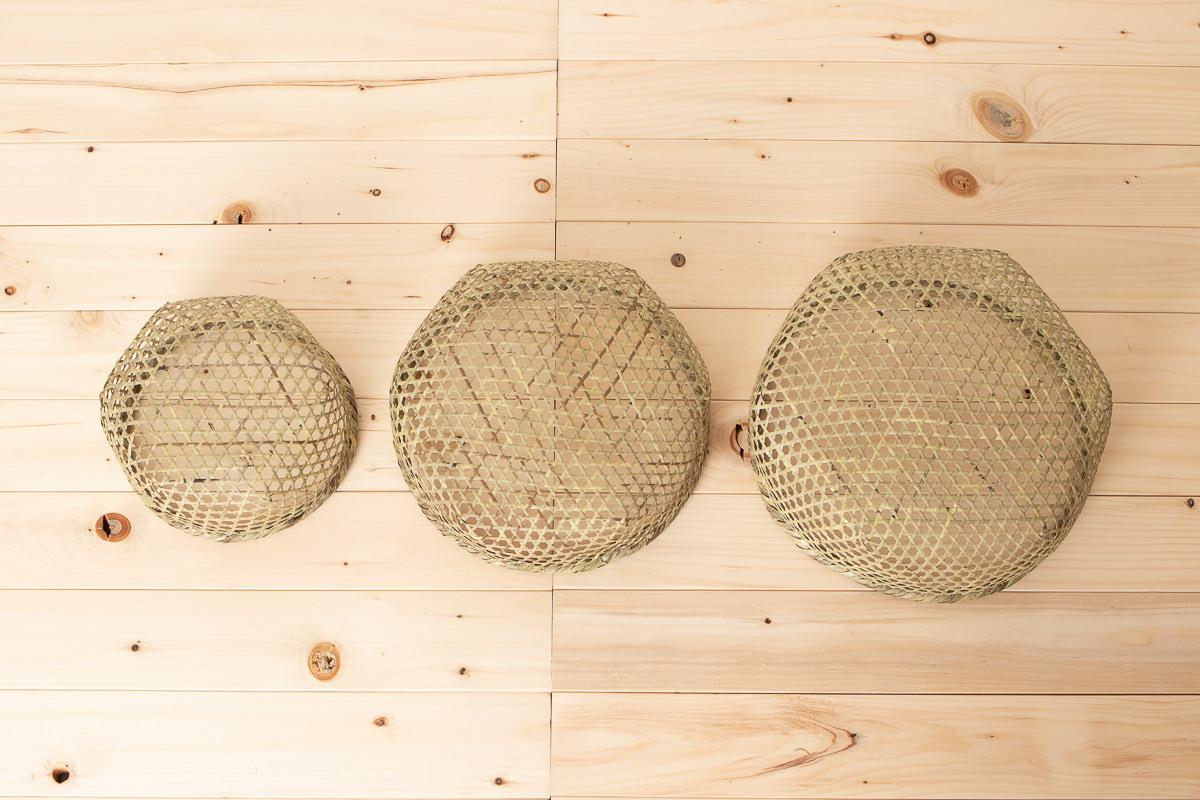 宮城県/篠竹 目かご 上(小豆洗い) 特小・小・大 3サイズ