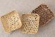 台湾/桂竹 六つ目菊皿(お菓子入れ) 生成り・草木染入・ブラウン/S・M・L 各3サイズのサムネイル画像
