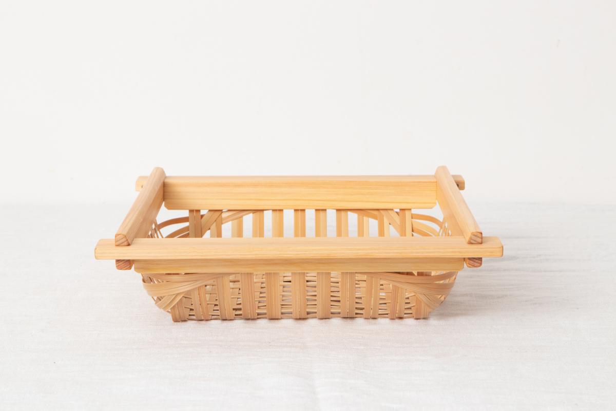 大分県/真竹(白竹)・ヒノキ 竹と木の盛りかご