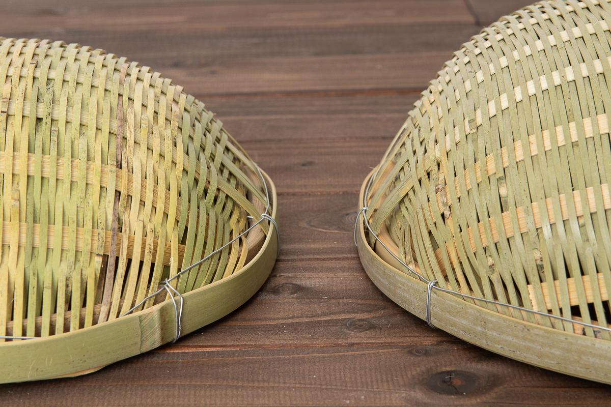 富山県/淡竹(はちく) 丸そうけ(水切りざる) 小-24cm・中-30cm 2サイズ
