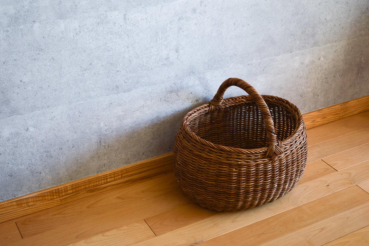 長野県/あけび 一本手 丸バスケット