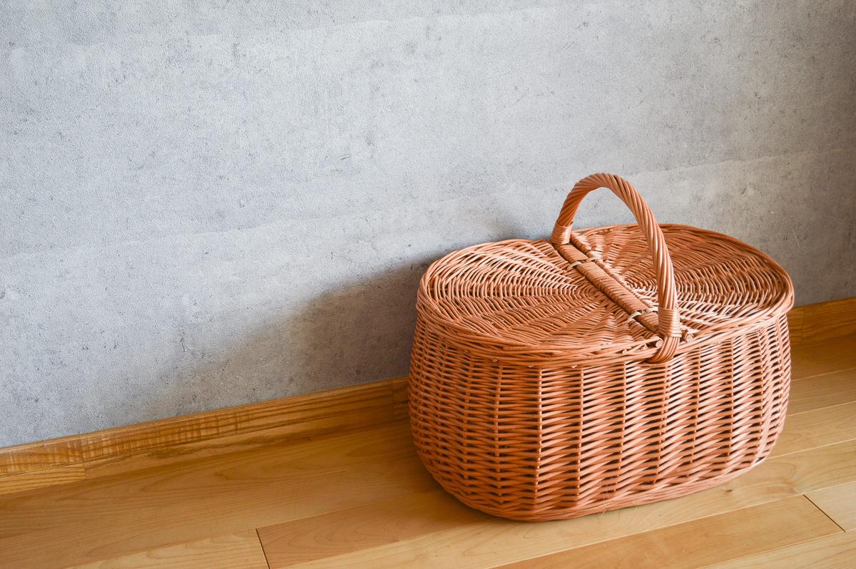 ポーランド/やなぎ 蓋つきバスケット