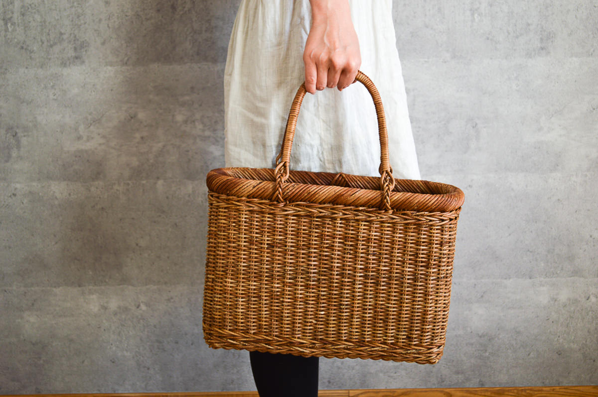 長野県/あけび 並編み 手提げ A4サイズ
