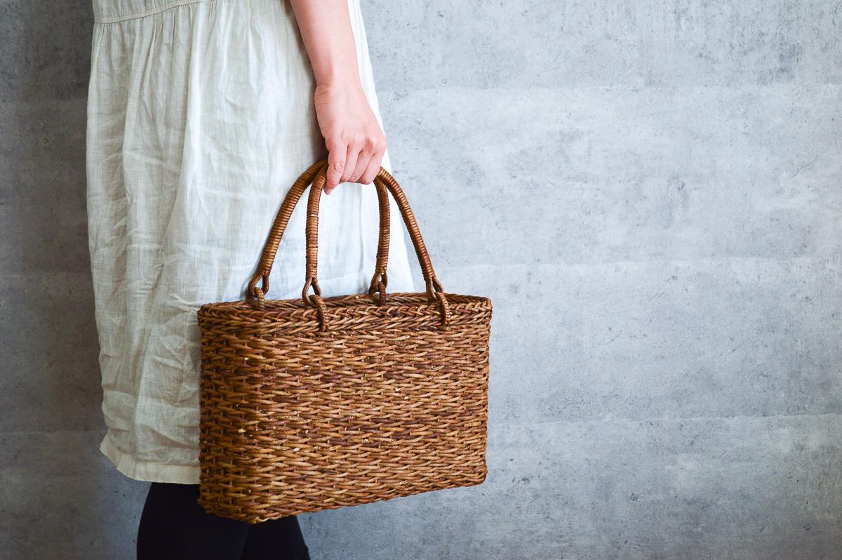 長野県/あけび 松葉編み 手提げ 中・大 2サイズ