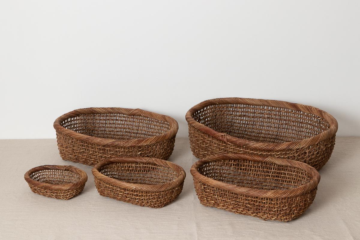 長野県/あけび すかし編み 楕円バスケット 特小・小・中・大・特大 5サイズ