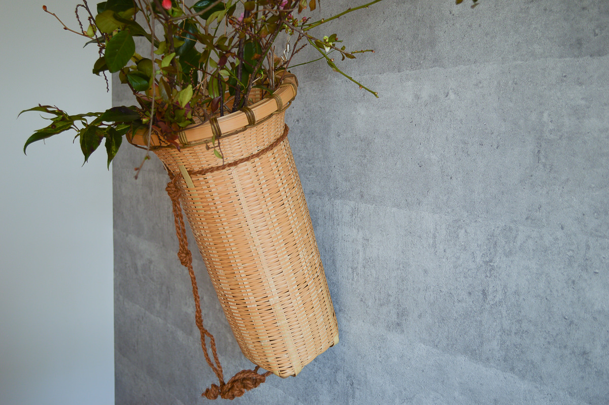 大分県/真竹(青竹) 花取籠