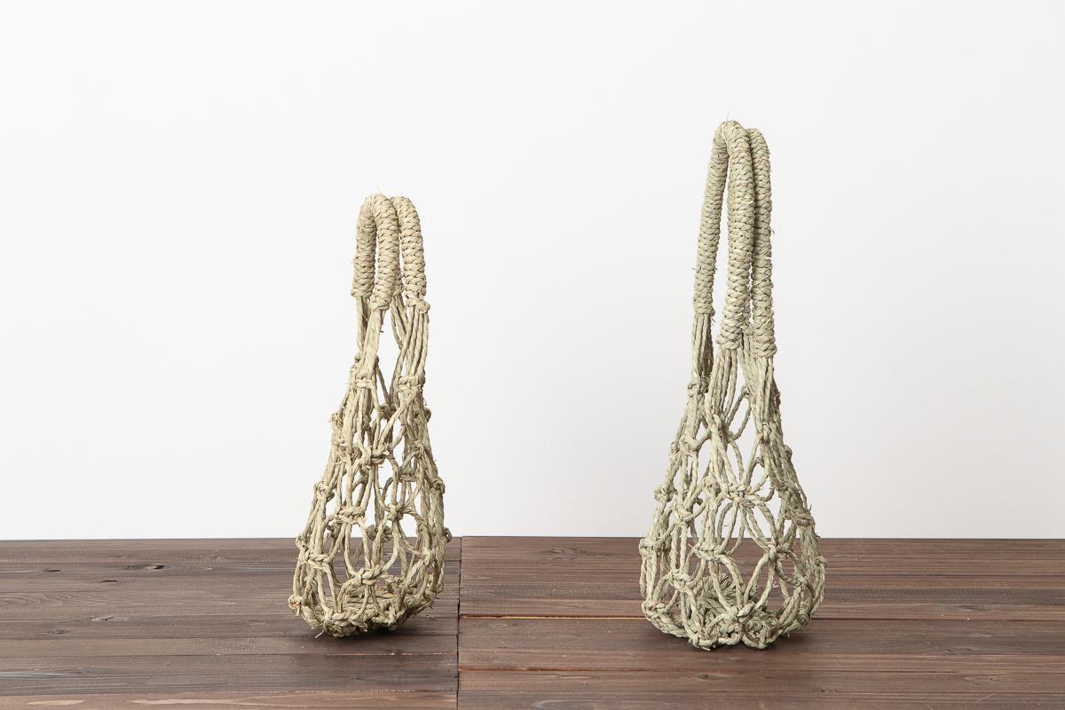 岡山県/い草 スイカかご 持ち手が短い・長い 2種
