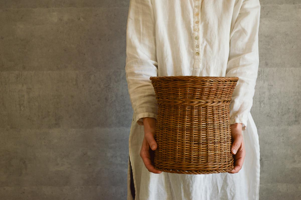 長野県/あけび 特製並編杵型かご