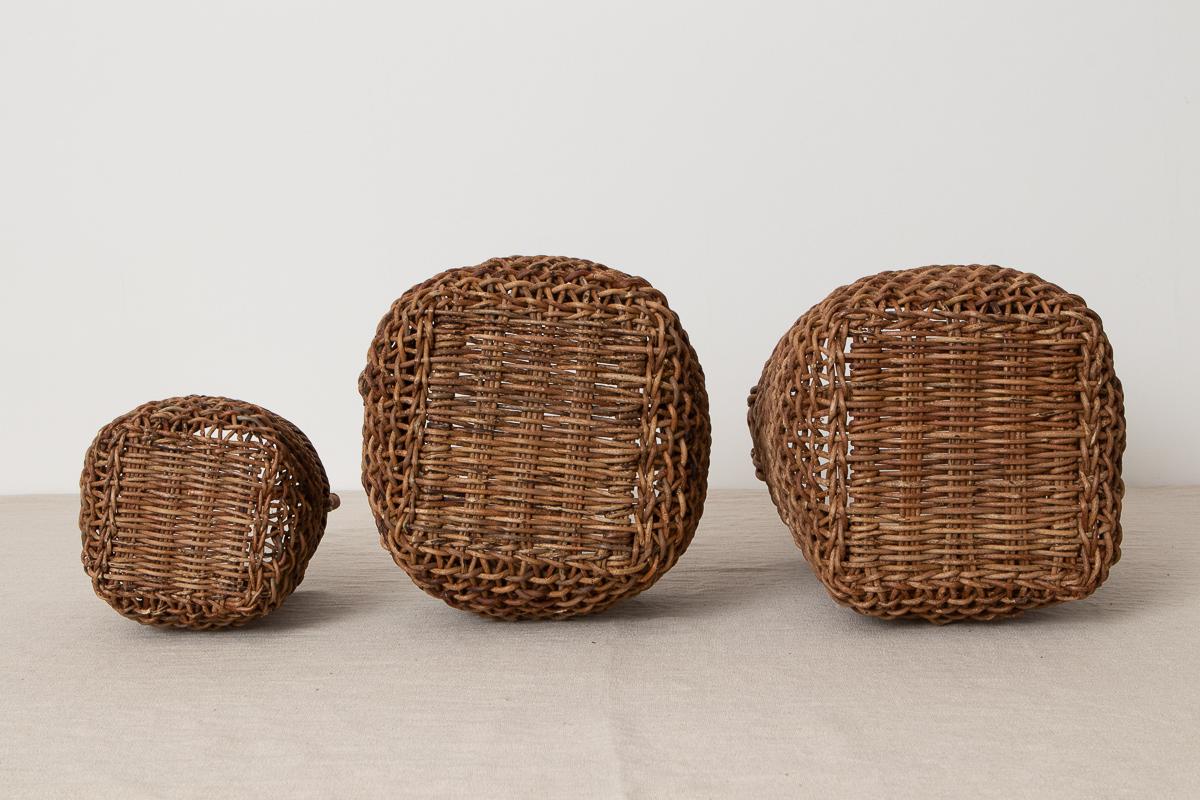 長野県/あけび すかし編み 手付き丸かご 小・中・大 3サイズ