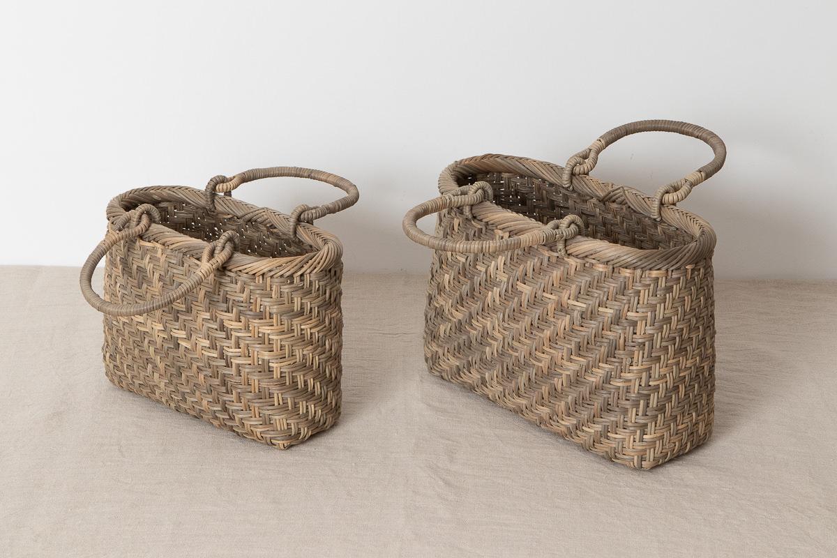 長野県/むきあけび あじろ編み手提げ 小・中 2サイズ