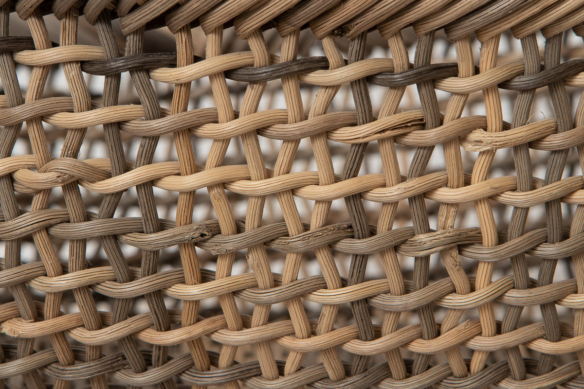 長野県/むきあけび すかし編み 小判盛りかご 小・中 2サイズ