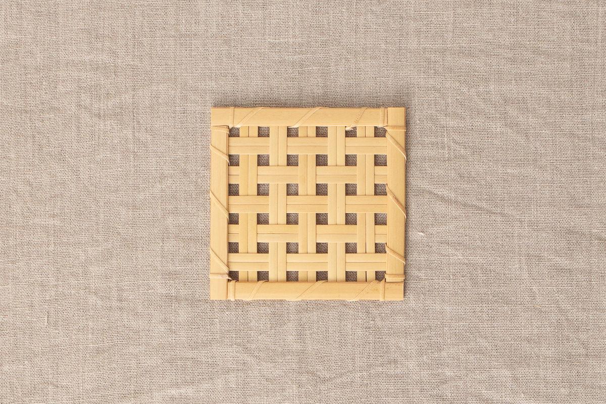 埼玉県/真竹(白竹) 角コースター 3種