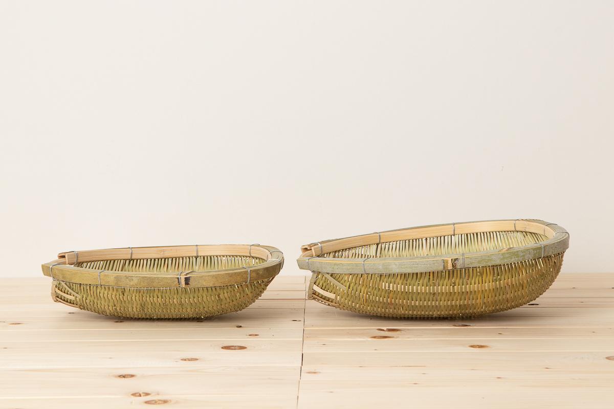 富山県/淡竹(はちく) 片口水切りざる 小・大 2サイズ