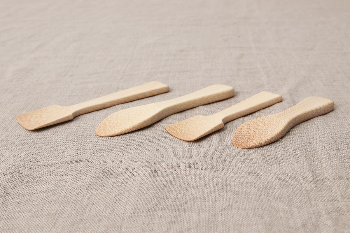 大分県/白竹 アイスクリームスプーン まる・かく/短い・長い 4種