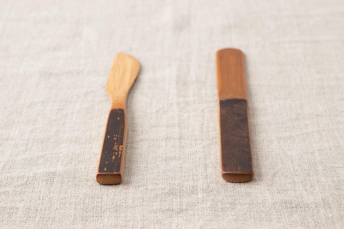 高知県/炭竹 万能へら/バターナイフ 2種