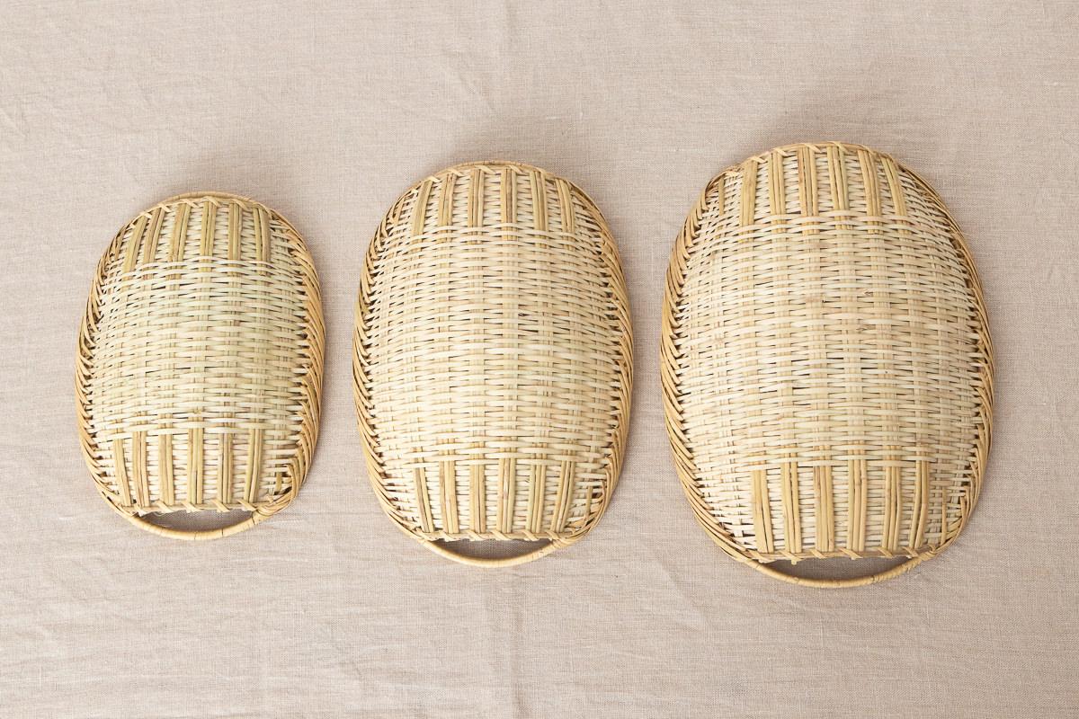岩手県/すず竹 手つき楕円ざる 小・中・大 3サイズ 【Bタイプ】