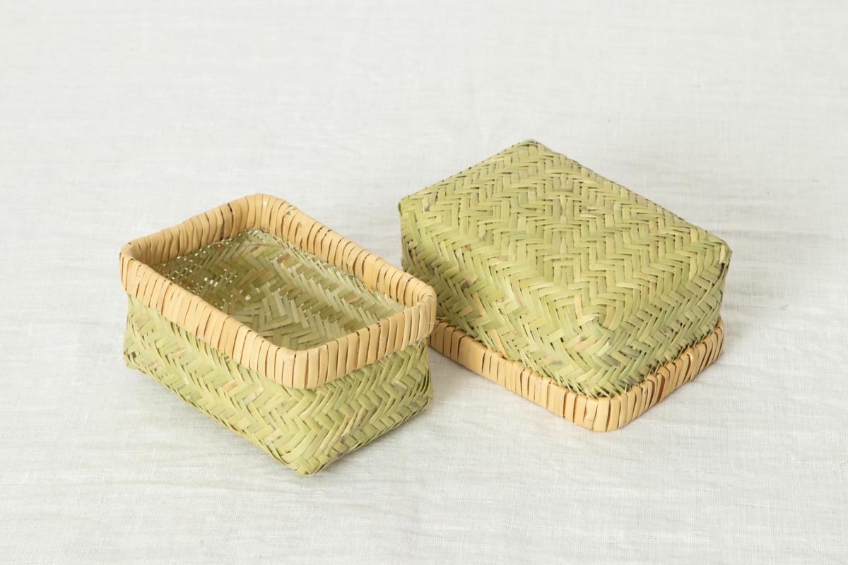 岩手県/すず竹 弁当かご 長型 ミニ・小 2サイズ 【Aタイプ】