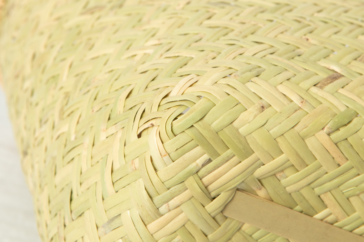 岩手県/すず竹 二本編み 小判型手提げ 特上(籐巻き手) 小・大 2サイズ